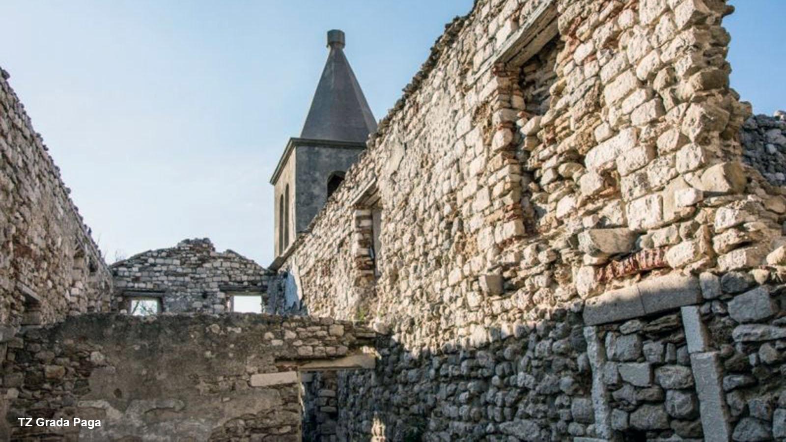 Zidine Starog grada Paga. Izvor fotografije: TZ Grada Paga